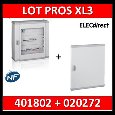 Legrand - Coffret de distribution 48 modules - 2 rangées de 24M - XL3 160 + porte - 401802+020272