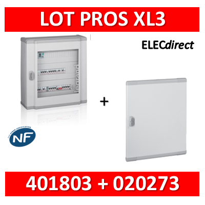 Legrand - Coffret de distribution 72 modules - 3 rangées de 24M + porte - XL3 160 - 401803+020273