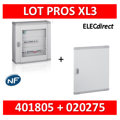 Legrand - Coffret de distribution 120 modules - 5 rangées de 24M + porte - XL3 160 - 401805+020275