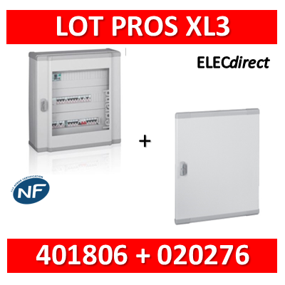 Legrand - Coffret de distribution 144 modules - 6 rangées de 24M + porte - XL3 160 - 401806+020276