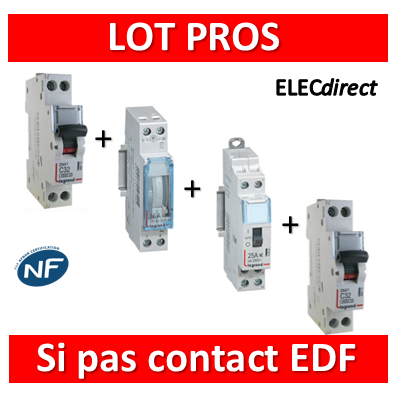 Legrand - LOT PROS Protection Chauffe eau - Sans contact EDF - 412501+406771+406775+412790