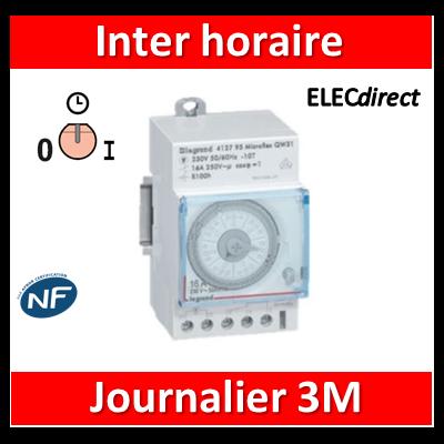 Legrand - Interrupteur horaire journalier analogique - 412812
