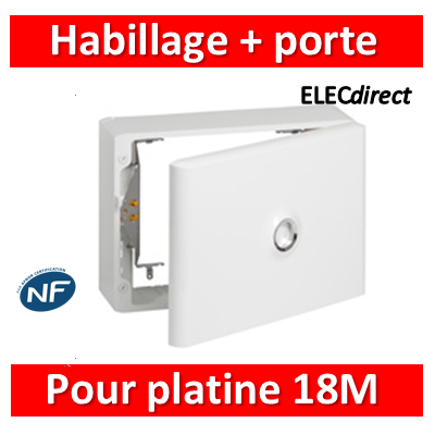 Legrand - Habillage + porte pour platine de branchement - GTL 18 modules - 401189