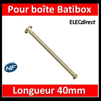 Legrand - Vis longue D63mm L 40 mm Bte de 10 vis - 089748