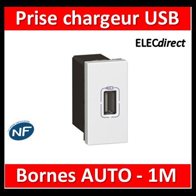 Legrand Mosaic - Prise chargeur USB 230V / 5V - 1 Port - 077591
