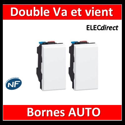 Legrand Mosaic - Double Va-et-Vient - 2 modules - 10A - 230V - 077001x2
