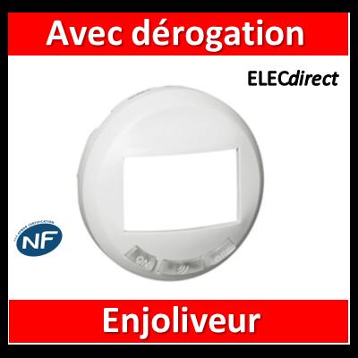 Legrand Céliane - Enjoliveur blanc écodétecteur avec dérogation - 068026