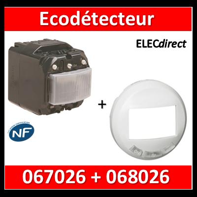 Legrand Céliane - Mécanisme + enjoliveur - Ecodétecteur - 2 fils sans neutre - 230V - 067026+068026