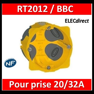 Legrand Batibox - Boîte d'encastrement 1 poste BBC pour prise 32A - Prof. 40 - D.85mm - 080086