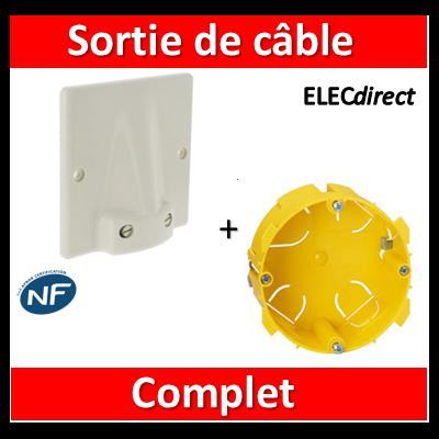 Legrand - Sortie de câble 32A - Fixation Vis + boîte 32A - complet - 031490+089348
