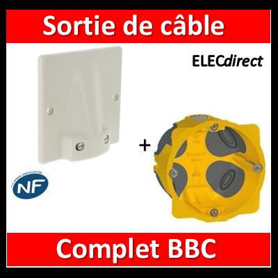 Legrand - Sortie de câble  32A - Fixation Vis + boîte 32A BBC - complet - 031490+080086