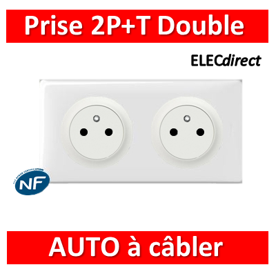 Legrand Céliane - PC Double 2P+T 16A - Surface - à câbler - complet