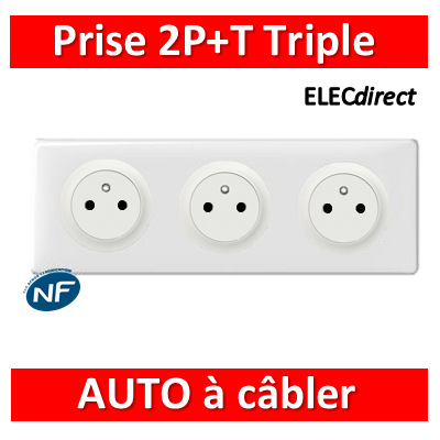 Legrand Céliane - PC Triple 2P+T 16A - Surface - à câbler - complet