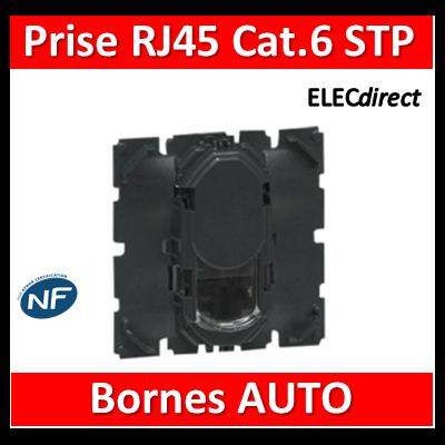 Legrand Céliane - Mécanisme Prise téléphone / informatique / TV RJ45 STP Cat. 6 A - 067346