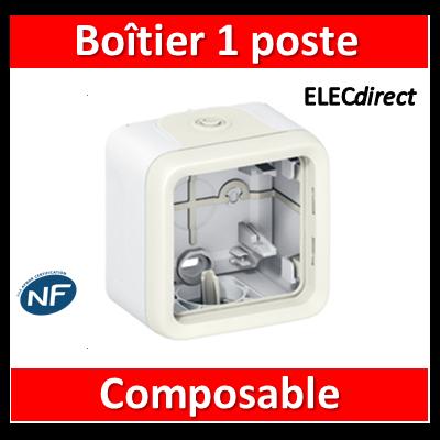 Legrand Plexo - Boîtier  composable - 1 poste - blanc - 069689