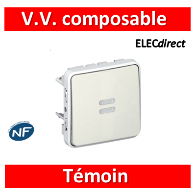 Legrand Plexo - Composable VV Témoin Blanc - 069612