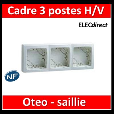 Legrand Oteo - Cadre saillie 3 postes - 086093