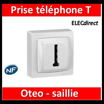 Legrand Oteo - Prise Téléphone 8 contacts - 086038