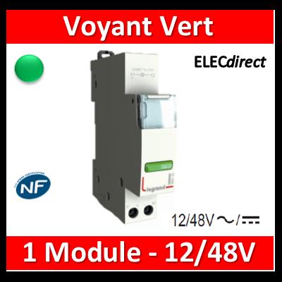 Legrand - Voyant vert - LED - 12/48V - 412921