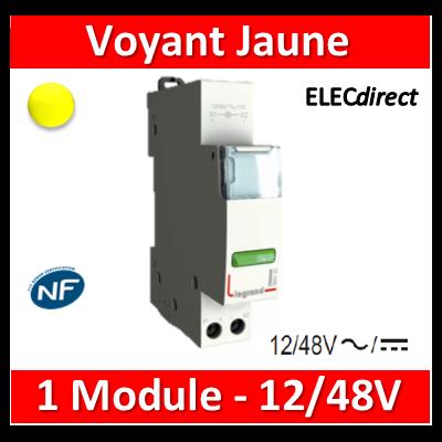 Legrand - Voyant jaune - LED - 12/48V - 412923