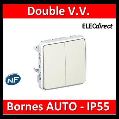 Legrand Plexo - Double va-et-vient Prog Plexo composable blanc - 10 AX - 069625