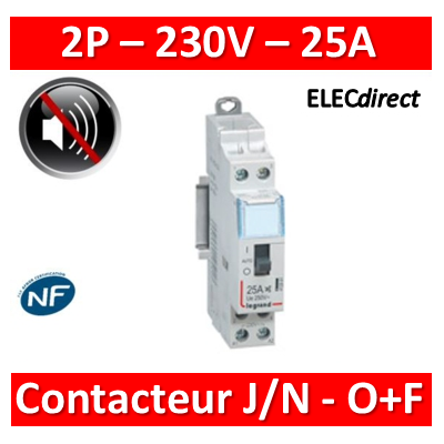 Legrand - Contacteur CX3 J/N heures creuses - 25A bipolaire - O+F - 412500