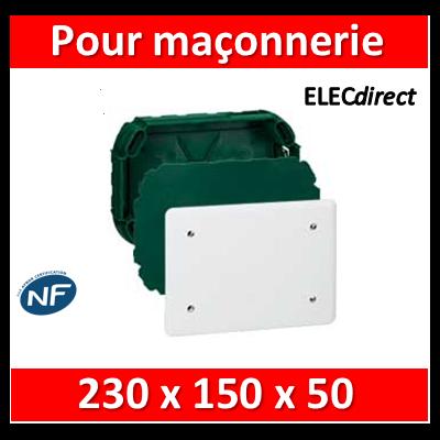 Legrand Batibox - Boîte à sceller complète pour dérivation 230x180x50mm - 089275