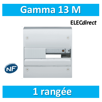 Hager - Coffret GAMMA 13 Modules - 1 Rangée de 13M - GD113A