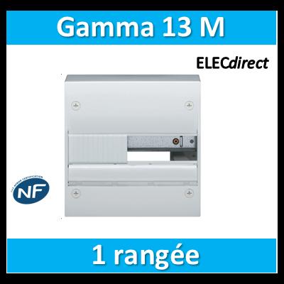 Hager - Coffret GAMMA 13 Modules - 1 Rangée de 13M - GD113A