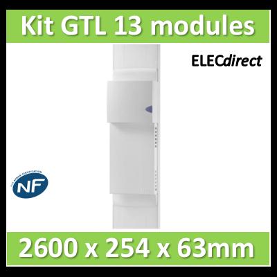 Rehau - Kit Cofralis - GTL  13M - 2600 x 60 x 250 mm - Avec couvercle complet - 733808