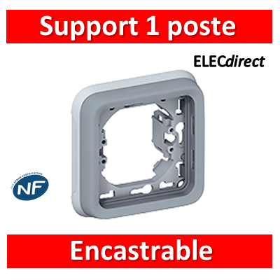 Legrand Plexo - Support  gris encastrable pour Plexo composable - 1 poste - 069681