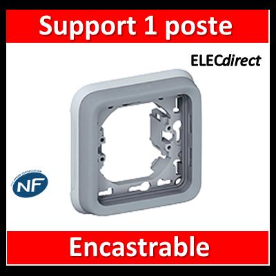 Legrand Plexo - Support  gris encastrable pour Plexo composable - 1 poste - 069681
