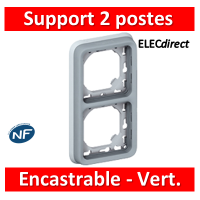 Legrand Plexo - Support  gris encastrable pour Plexo composable - Vert. - 2 postes - 069685