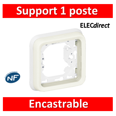 Legrand Plexo - Support encastrable pour Plexo composable - 1 poste - blanc - 069692