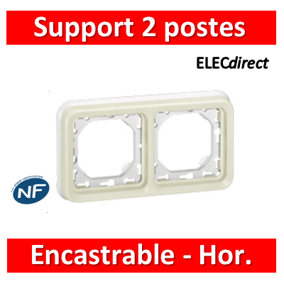 Legrand Plexo - Support encastrable pour Plexo composable - Hor. - blanc - 2 postes - 069694