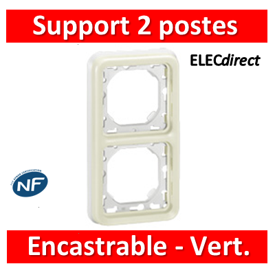 Legrand Plexo - Support encastrable pour Plexo composable - Vert. - blanc - 2 postes - 069696