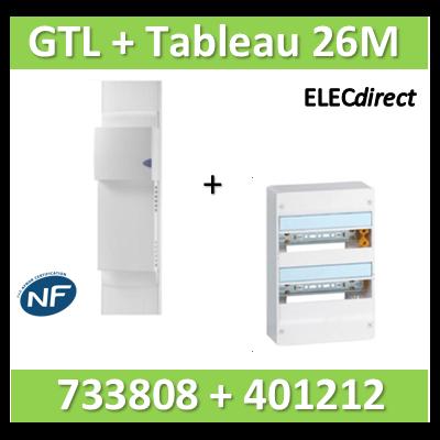 Rehau - Kit Cofralis - GTL  13M - 2600 x 60 x 250 mm complet + tableau Legrand 26M - 733808+401212