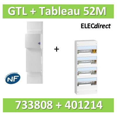 Rehau - Kit Cofralis - GTL  13M - 2600 x 60 x 250 mm complet + tableau Legrand 52M - 733808+401214