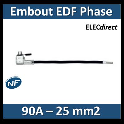 Klauke - Embout de raccordement EDF Phase - Noir - 90A - 25mm2