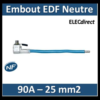 Klauke - Embout de raccordement EDF Neutre - Bleu - 90A - 25mm2