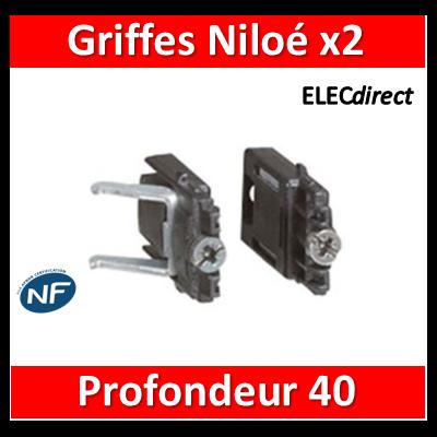 Legrand Niloé - Paire de Griffes rapido pour rénovation - prof.40 mm - 665099x2