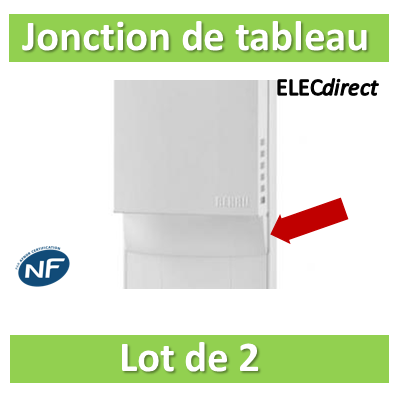 Rehau - Cofralis lot de 2 jonctions de tableau - 243474