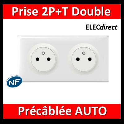 Legrand Céliane - PC Double 2P+T 16A - Affleurante - Précâblée - complet