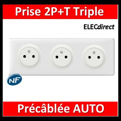 Legrand Céliane - PC Triple 2P+T 16A - Affleurante - Précâblée - complet