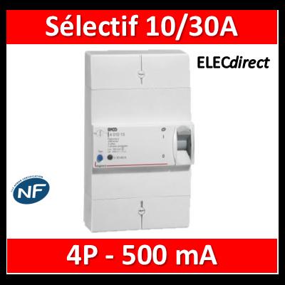 Legrand - Disjoncteur de branchement ERDF - 4P 10/30A 500 MA Sélectif - 401012