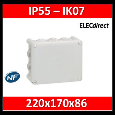 Legrand - Boîte de dérivation étanche IP55 - 220x170x86 - 092062