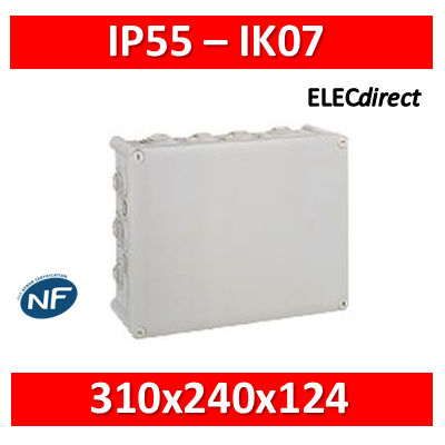 Legrand - Boîte de dérivation étanche IP55 - 340x240x124 - 092082