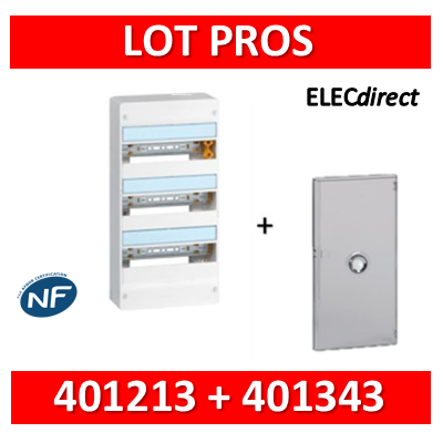 Legrand - LOT PROS - Coffret DRIVIA 39 Modules + porte - 401213+401343