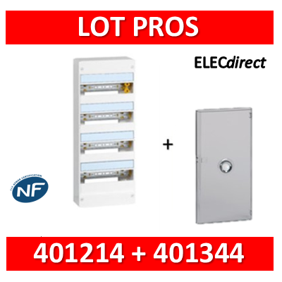 Legrand - LOT PROS - Coffret DRIVIA 52 Modules + porte - 401214+401344