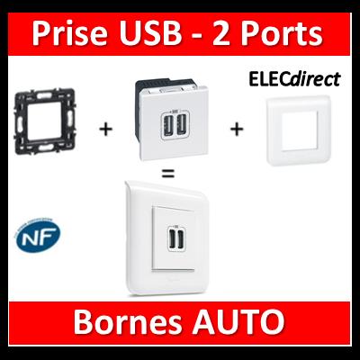 Legrand Mosaic - Prise USB - 2 ports - complet
